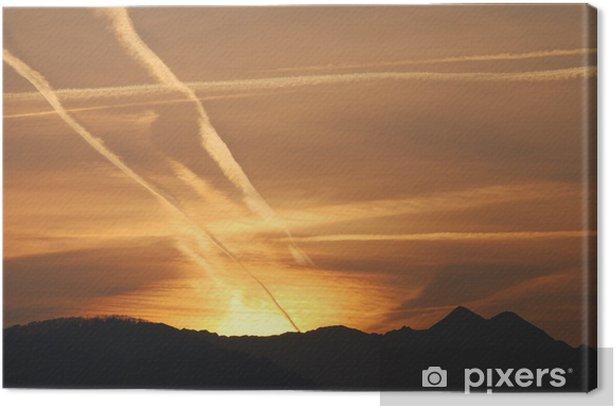 Obraz na płótnie Złoty słońca - Góry