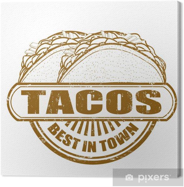 Obraz na płótnie Znaczek Tacos - Znaki i symbole