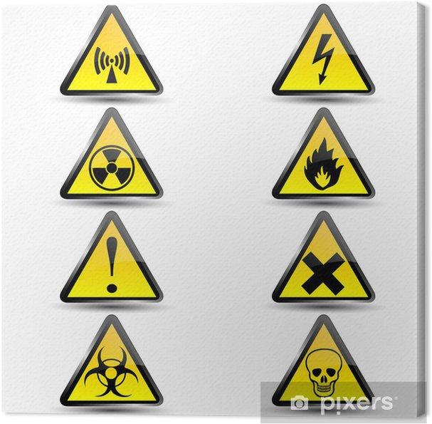 Obraz na płótnie Znaki ostrzegawcze - Znaki i symbole