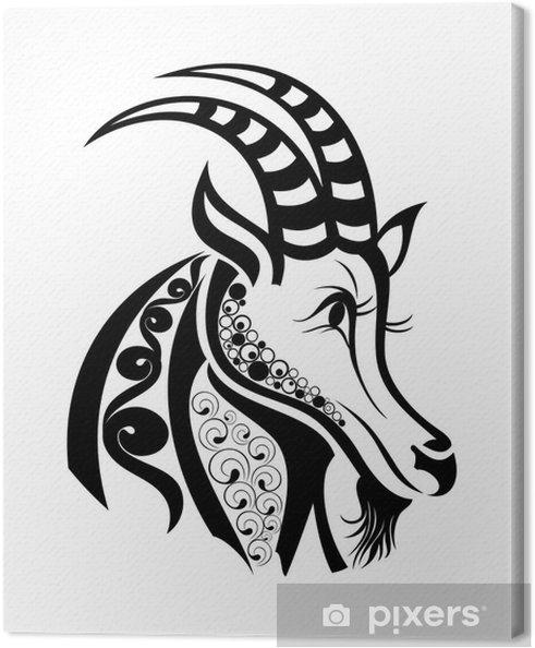 Obraz Na Płótnie Znaki Zodiaku Koziorożec Wzór Tatuażu
