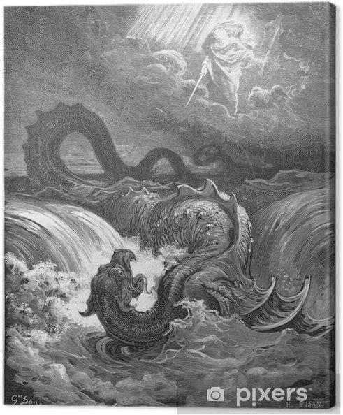 Obraz na płótnie Zniszczenie Lewiatana - Znaki i symbole