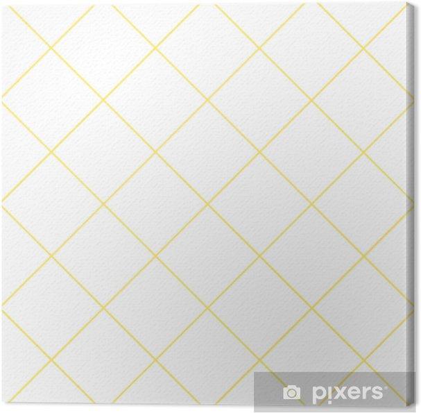 Obraz na płótnie Żółta siatka biały diament tło wektor ilustracja - Zasoby graficzne