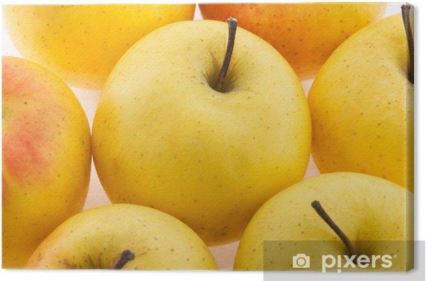 Obraz na płótnie Żółte jabłka - Owoce