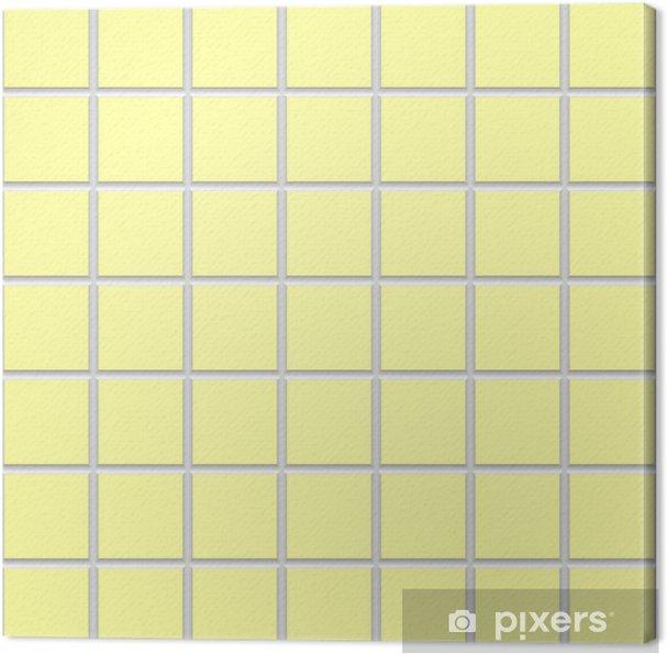 Obraz na płótnie Żółty kwadrat tekstury płytek ceramicznych - Tekstury