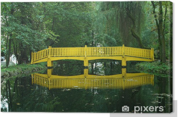 Obraz na płótnie Żółty most - Infrastruktura