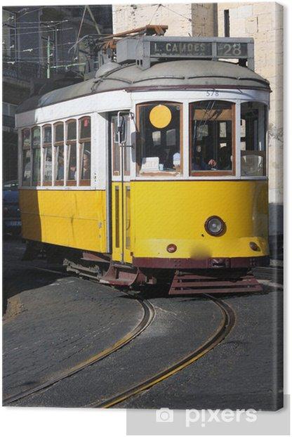 Obraz na płótnie Żółty tramwaj w Lizbonie - Miasta europejskie