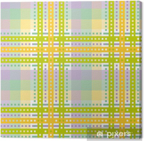 Obraz na płótnie Żółty zielony tartan tła - Tekstury