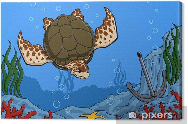 Obraz na płótnie Żółw morski - Inne Inne