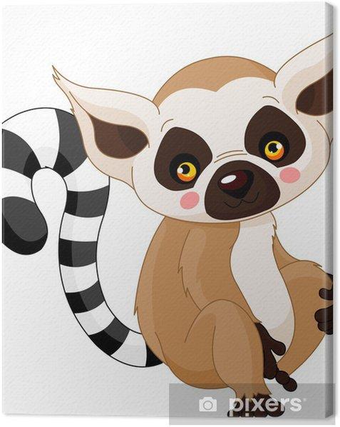 Obraz na płótnie Zoo zabawa. Lemur - Ssaki