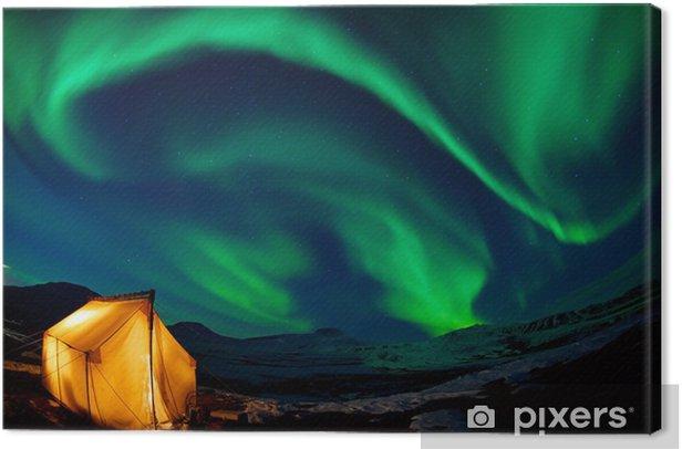 Obraz na płótnie Zorza polarna - Niebo