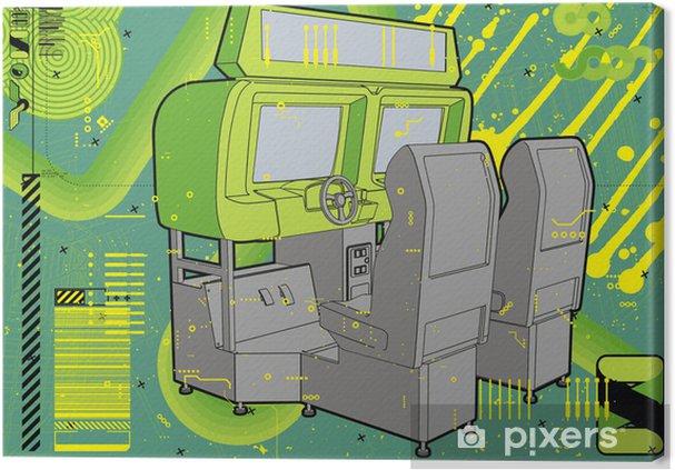 Obraz na płótnie Zręcznościowe wyścigi symulacji w zieleni. - Przeznaczenia