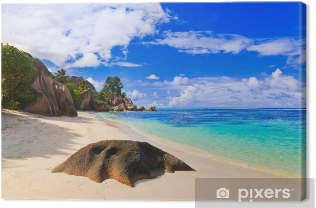 Obraz na płótnie Źródło plaży na Seszelach d'Argent - Wakacje