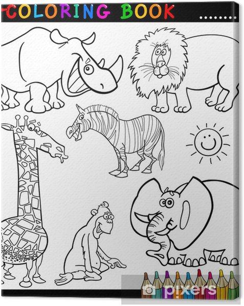 Obraz na płótnie Zwierzęta dla kolorowanka lub stronie - Ssaki
