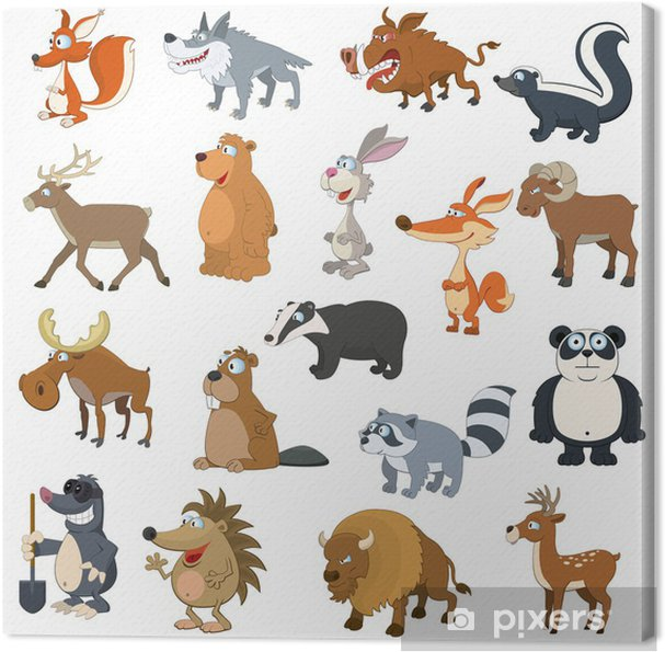Obraz na płótnie Zwierzęta leśne ustawić - Ssaki