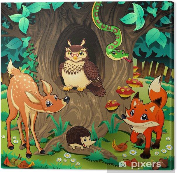 Znalezione obrazy dla zapytania: zwierzeta lasu ilustracje