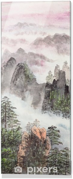 Obraz na szkle Chiński obraz wysokiej górze - Pory roku