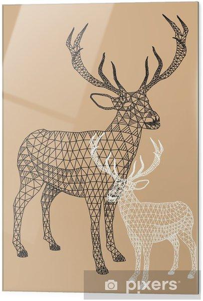 Obraz na szkle Christmas reniferów z geometrycznym wzorem, wektor - Styl życia