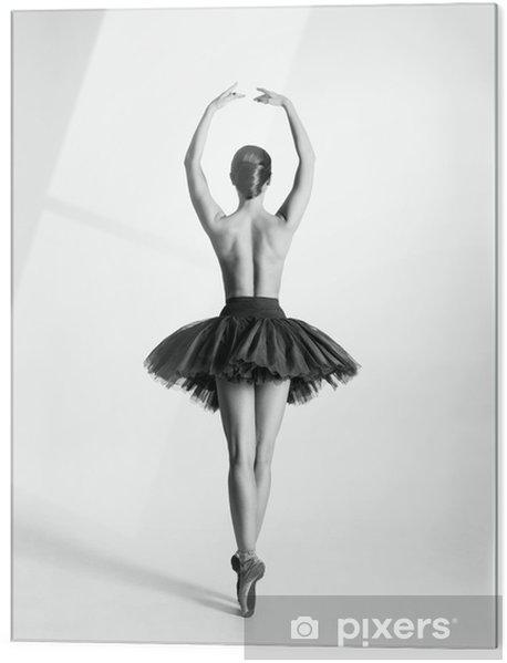 Obraz na szkle Czarny i biały ślad tancerz baletu topless - Bielizna