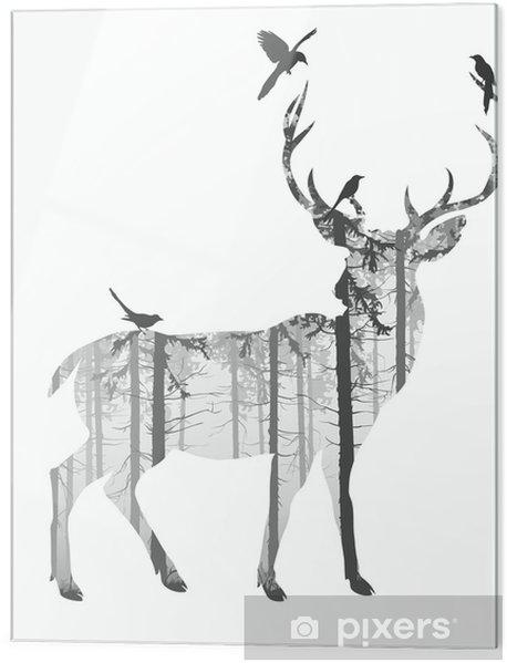 Obraz na szkle deer - Ssaki