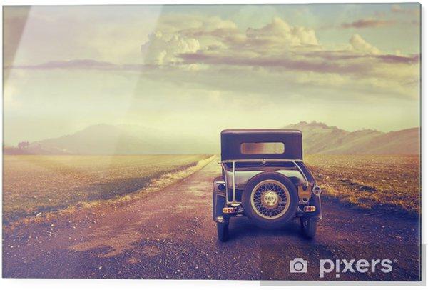 Obraz na szkle Podróż samochodem w stylu vitage - Rolnictwo