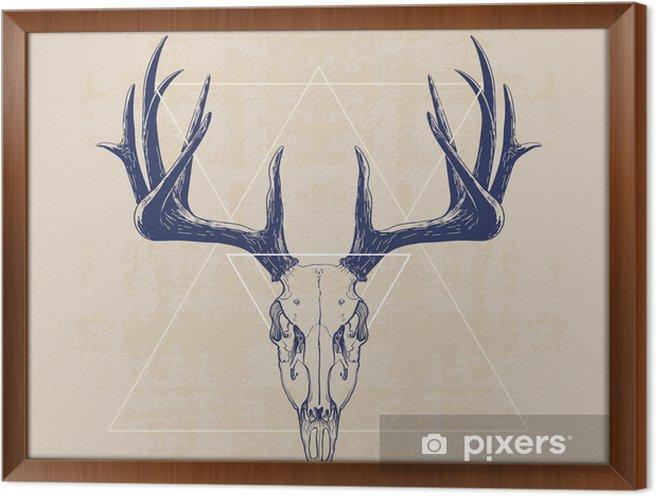 Rámovaný obraz na plátně deer skull - Savci