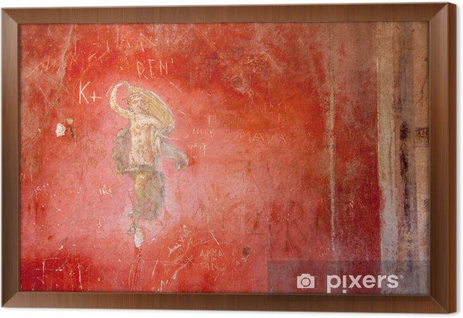Rámovaný obraz na plátně Freska na starověké římské město Pompeje - Evropa