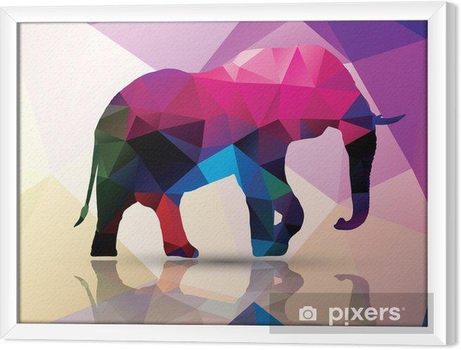 Rámovaný obraz na plátně Geometrická polygonální slon, vzor design, vector - Témata