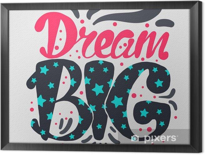 Rámovaný obraz na plátně Motivace a Dream popisovaného Concept - Duševní stavy