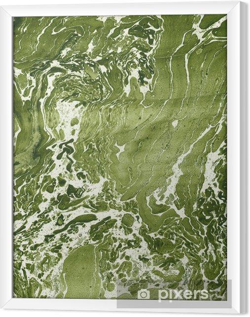 Rámovaný obraz na plátně Water colour - Umění a tvorba