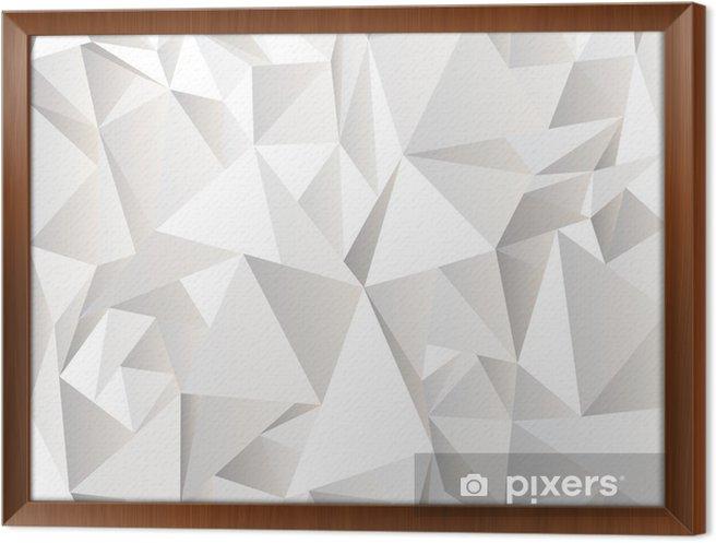 Obraz na płótnie w ramie Abstrakcyjne tło białe zmięty - Style
