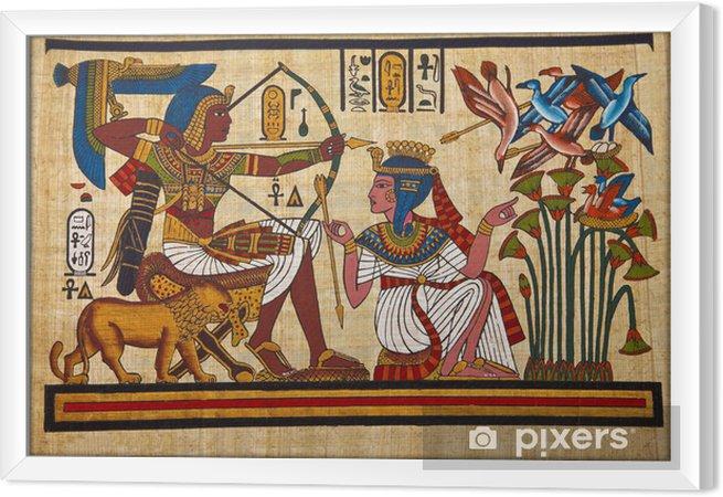 Obraz na płótnie w ramie Antyczny papirus egipski hieroglif i - iStaging