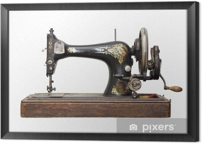 Obraz na płótnie w ramie Antyk maszyna do szycia - Przemysł ciężki