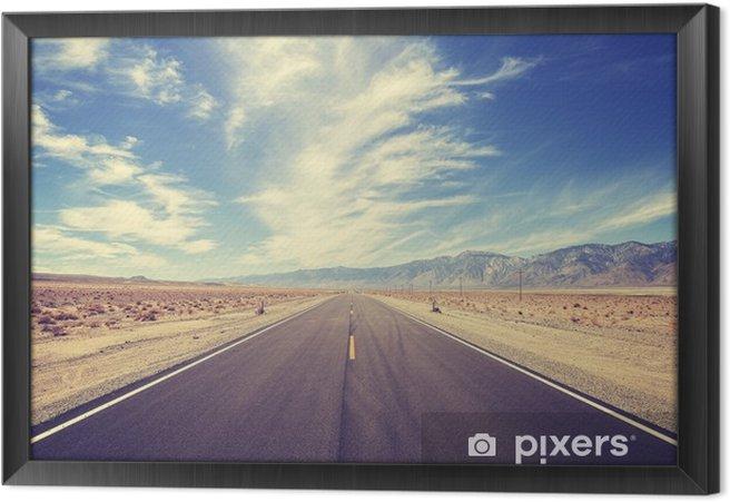 Obraz na płótnie w ramie Autostrada krajowa w Stanach Zjednoczonych, w stylu vintage - Podróże