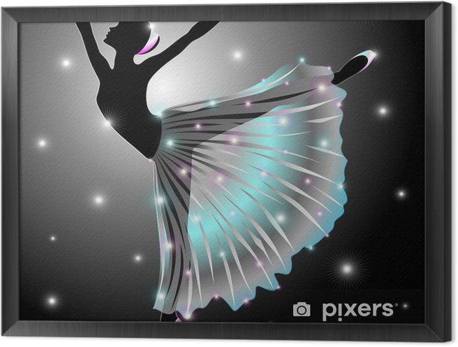 Obraz na płótnie w ramie Ballerina Danza Classica-Classic Star Dance Dancer-Vector - Balet