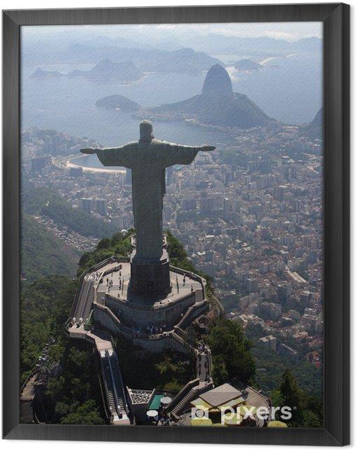 Obraz na płótnie w ramie Corcovado 5178 - Brazylia