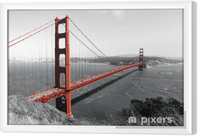 Obraz na płótnie w ramie Czerwony most Golden Gate - iStaging