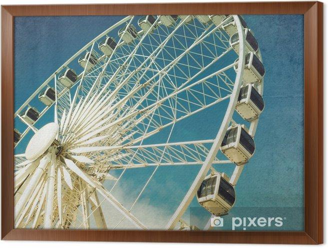 Obraz na płótnie w ramie Ferris wheel retro - Hobby i rozrywka