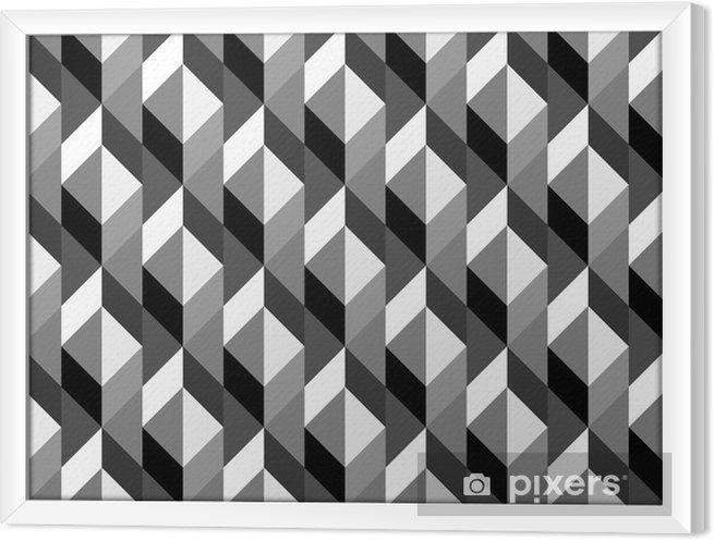Obraz na płótnie w ramie Geometryczny wzór powtarzalne - Sztuka i twórczość