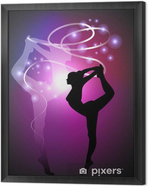 Obraz na płótnie w ramie Gimnastyka artystyczna - Ribbon - Przeznaczenia