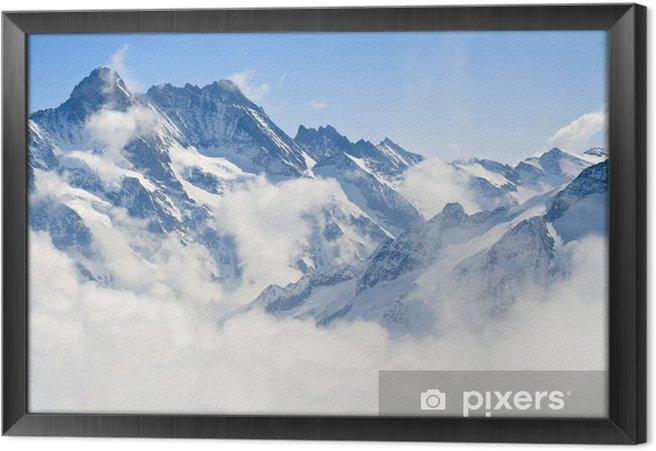 Obraz na płótnie w ramie Górski krajobraz Alp - Style