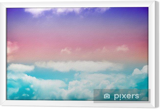 Obraz na płótnie w ramie Grunge Kolorowe niebo - Zasoby graficzne