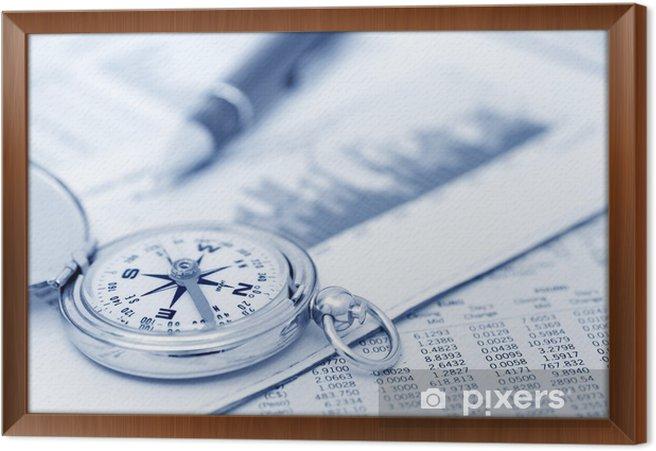 Obraz na płótnie w ramie Investments - Finanse