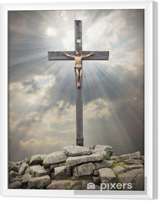 Obraz na płótnie w ramie Jezus Chrystus na krzyżu - Tematy