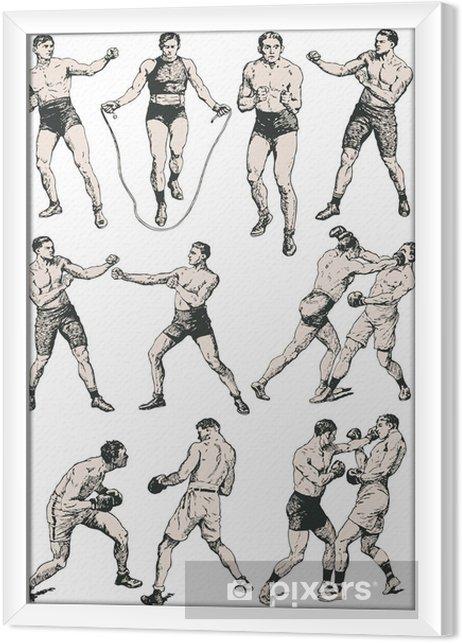 Obraz na płótnie w ramie Klub bokserski - Tekstury