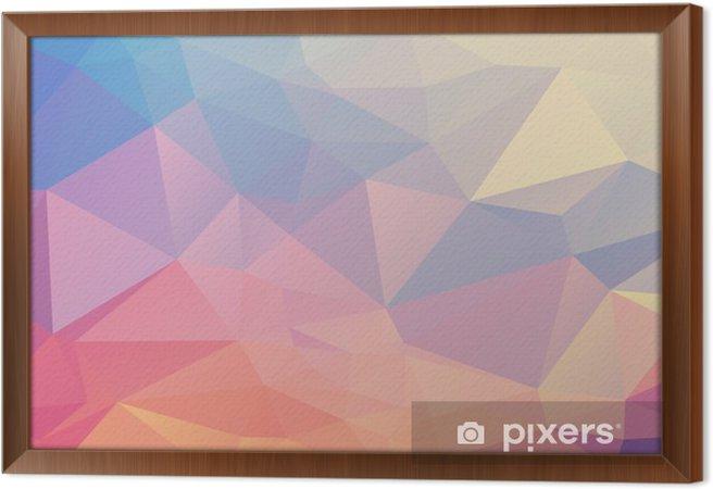 Obraz na płótnie w ramie Kolorowe wielokąta - Zasoby graficzne
