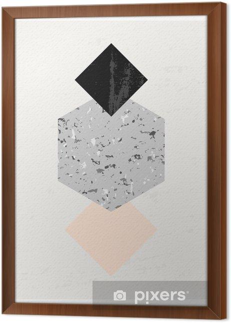 Obraz na płótnie w ramie Kompozycja abstrakcyjna geometrycznej - Zasoby graficzne