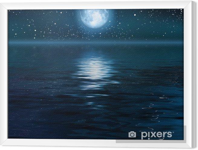 Obraz na płótnie w ramie Księżyc - Tematy
