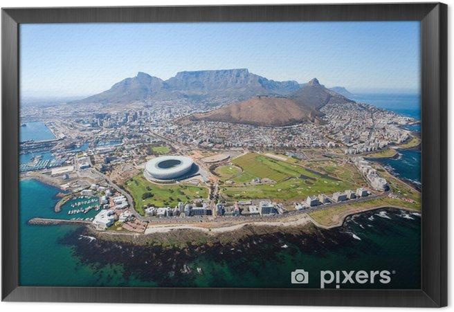Obraz na płótnie w ramie Ogólny widok z lotu ptaka od Cape Town, Republika Południowej Afryki - Przeznaczenia