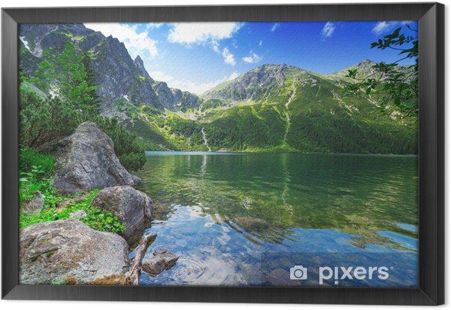 Obraz na płótnie w ramie Oko jeziora morza w Tatrach, Polska - Tematy