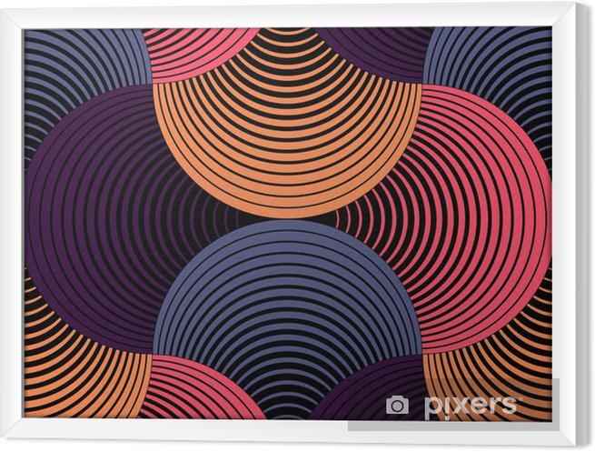 Obraz na płótnie w ramie Ozdobny płatki siatki geometryczne, abstrakcyjne wektor powtarzalne - Tematy